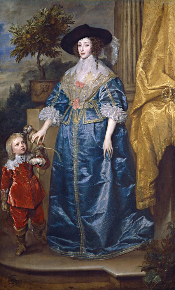 Monkey and Henrietta Maria - by Van Dyck