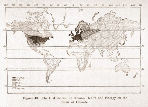 L0029476 Civilization and Climate, world map