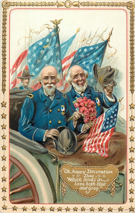 Decoration Day Tuck 1911 Blue and Gray