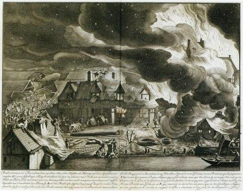Van der Heyden Rope and Tar Fire 1690
