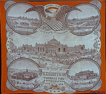 Fabric handkerchief 1876 MET