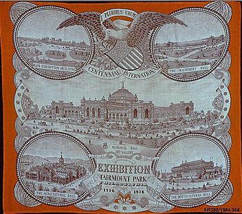 Fabric handkerchief 1876 MET