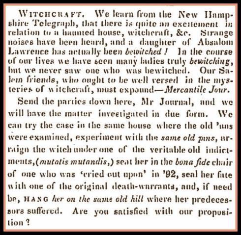 Bewitched 1843 Salem Register