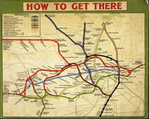 Map London Underground BL