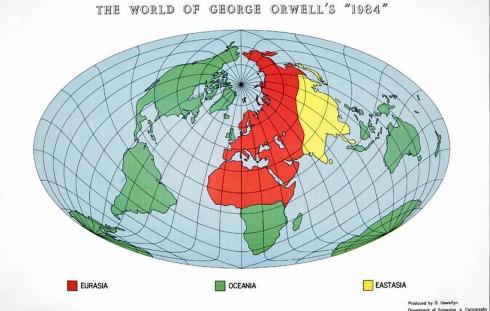 Map Orwell 1984