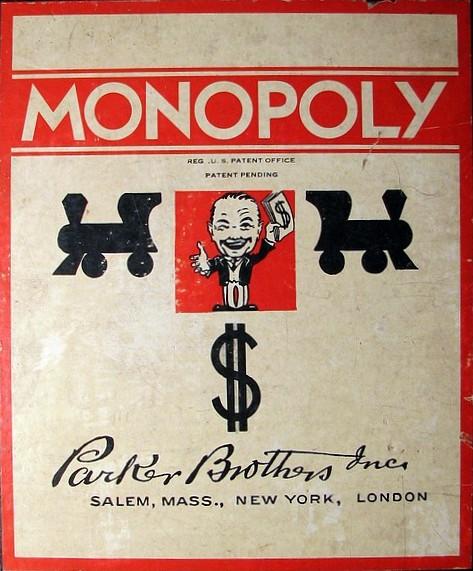 Monopoly Box Patent Pending 1935
