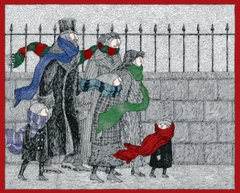 Gorey Christmas Card