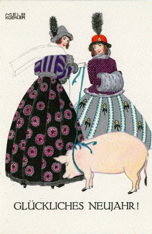 Porcine New Year 1910 Koehler MFA
