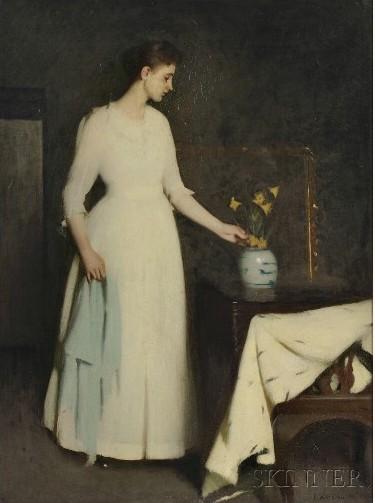 Benson Figure in White