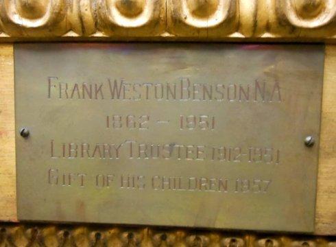 Benson plaque Figure in White