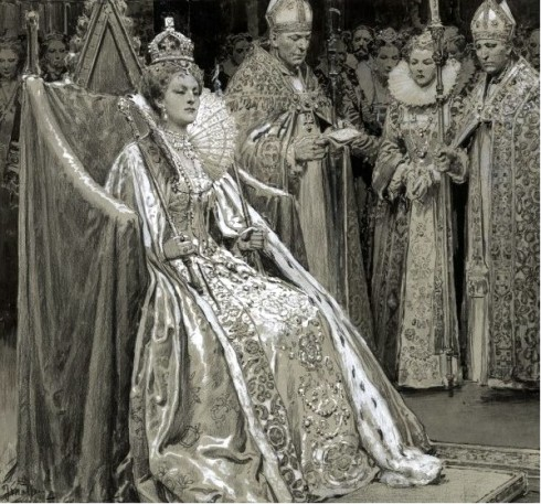 Elizabeth 20th century coronation portrait