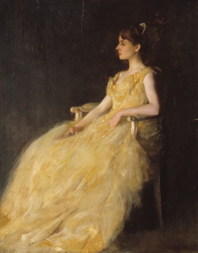 Lady in Yellow Thomas Wilmer Dewing