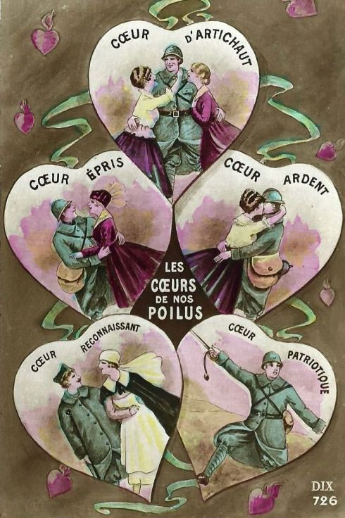 Valentine 1917 French Hearts