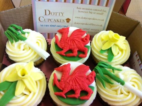 Saint David's Day cupcakes