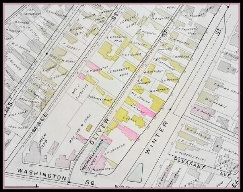 Oliver Street 1898 Salem Atlas