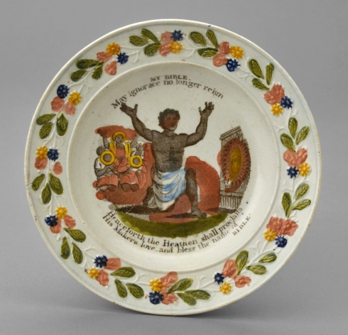 Anti-slavery plate Winterthur Collection