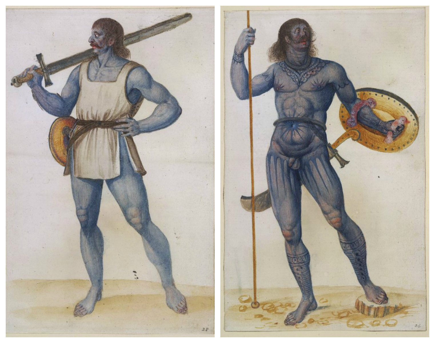 Blue Painted Warriors Of Britain