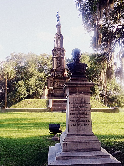 Confederate and McLaws Statues Savannah