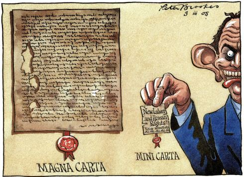 Magna Carta cartoon-magna-carta-mini-carta-tony-blair-2005