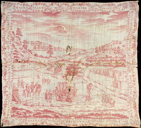 Magna Carta handkerchief-depicting-signing-1879 V and A