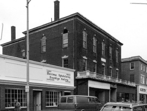 Gideon Tucker House with commercial storefront
