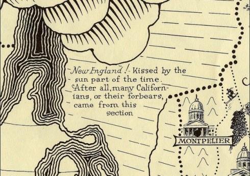 Ernest Dudley Chase Map NE