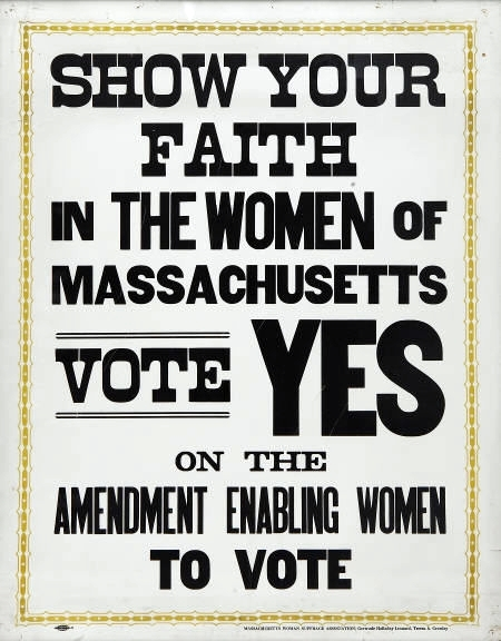 Suffrage Broadside 1915 MHS