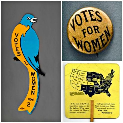 Suffrage mementos MA