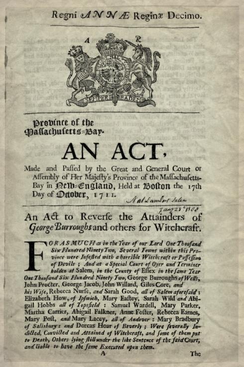 1711 Reversal of Attainder