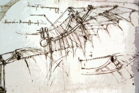 Leonardo Wings Sketch