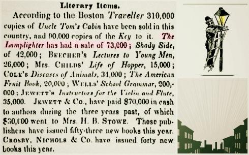 Lamplighter Sales 1854