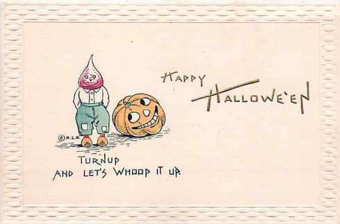 Turnip Halloween Card