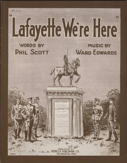 Lafayette were here 1918 LC