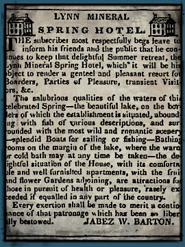 Lynn Mineral Springs Hotel ad