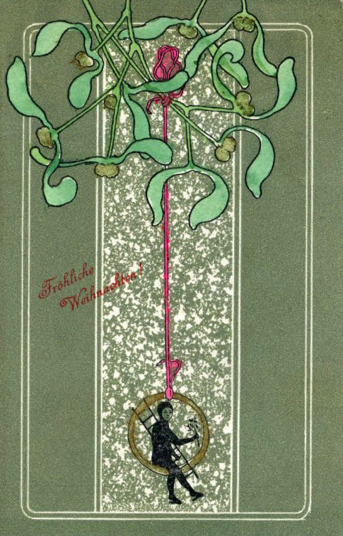 Chimney Sweep Art Nouveau Card