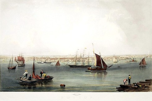 Hill Boston Harbor 1853
