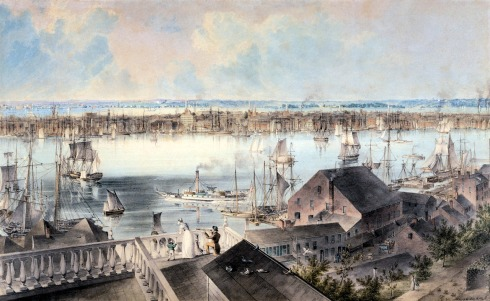 Hill NY from Brooklyn Heights 1850s