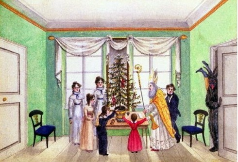 Krampus in the drawing room 1812-13