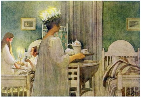 Lucia Christmas Morning 1923