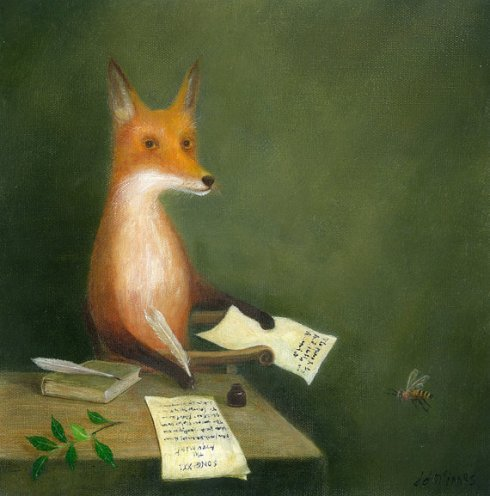 Fox Writing Letters