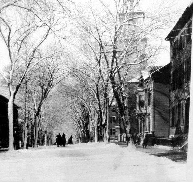 Chestnut Street in Winter 1890s