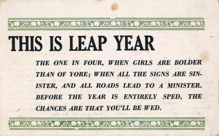 Leap Year Text 1904p
