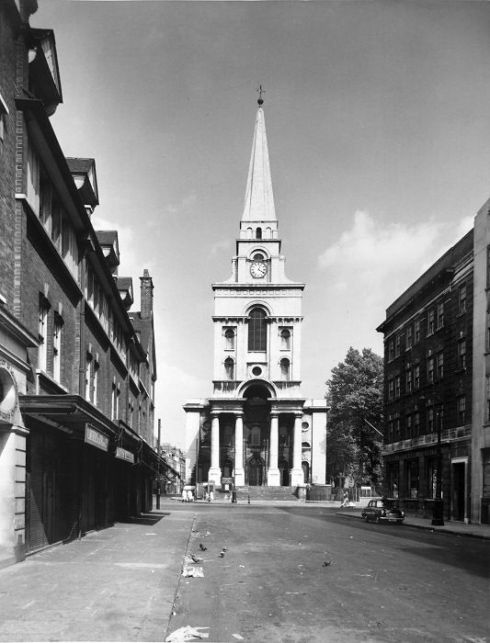 Christ Church Spitalfields 1950s