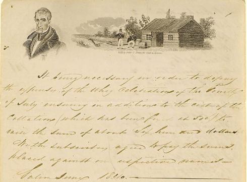 Selling Salem 1840