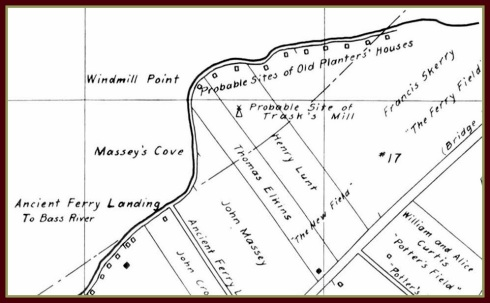 Massey's cove map Perley detail