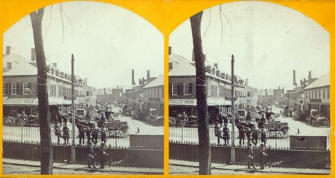 Stereoview Front Street Salem