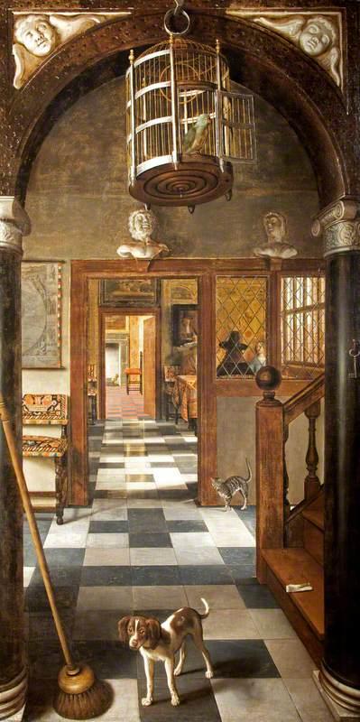 van Hoogstraten, Samuel, 1627-1678; A View through a House