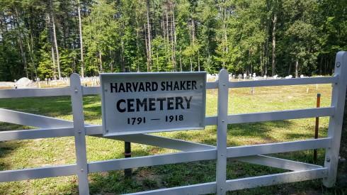 Shaker Cemetery Sign