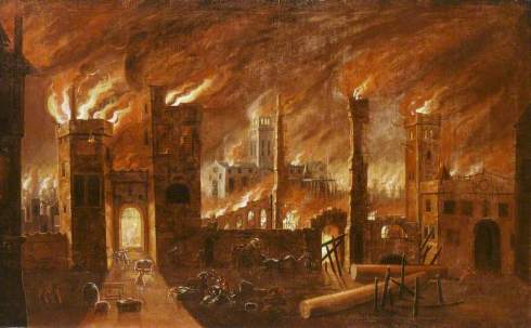 Griffier I, Jan, c.1645-1718; The Great Fire of London, 1666
