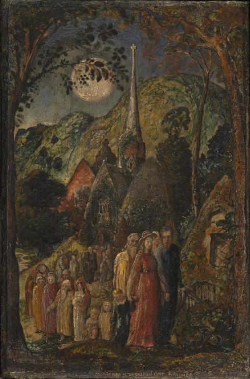 Coming from Evening Church 1830 by Samuel Palmer 1805-1881